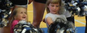 Varsity cheerleaders share talent