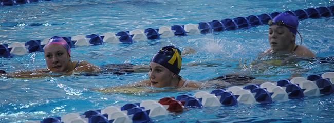 First swim practice makes splash
