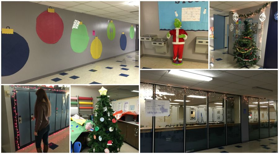Leadership class decorated the building for the holidays.