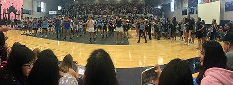The Senior Dance. The dance was interesting. It was a mash up of plenty of songs. The first row of students were hype enough to get everybody's attention. Even though there were some confused faces, overall the dance was good. Congrats Class of 2016!