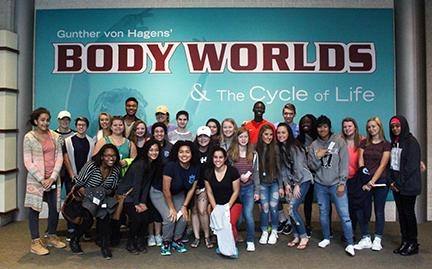 AP bio students and HOSA members toured the human body at Body Worlds, Union Station.