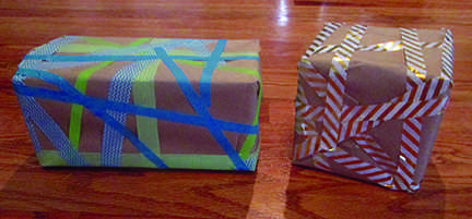DIY Washi Tape Wrapping Paper
