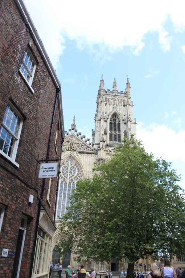 first view from street of Yorkminster