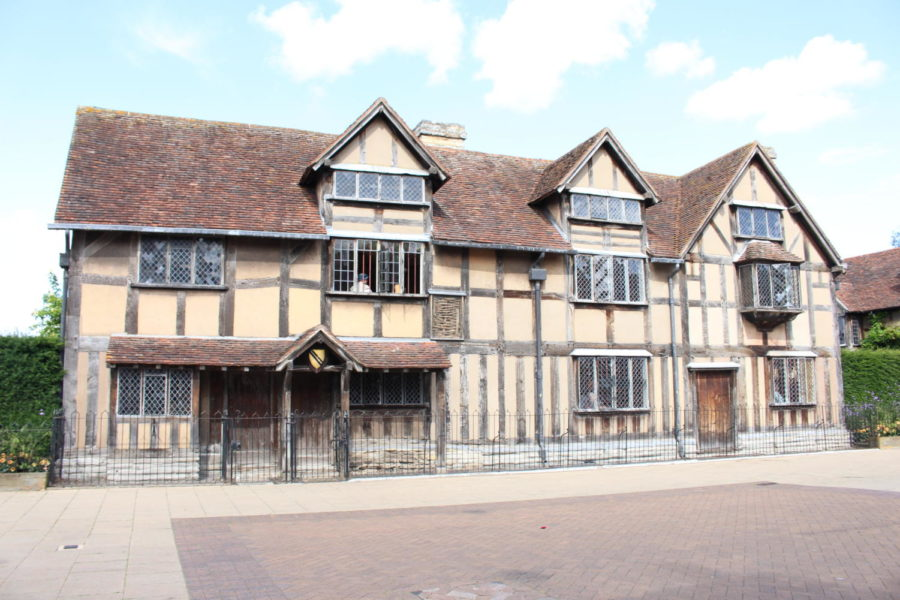 birthplace of author and playwright William Shakespeare