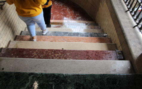 Walking in the rain, Edinburgh