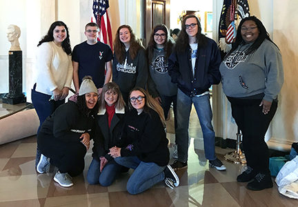Cambia yearbook and The Northmen's Log magazine students visited the White House before their competitions started at nationals.