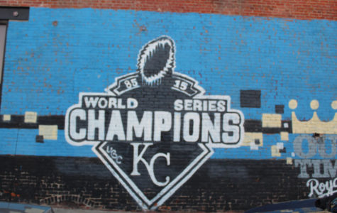 Kansas City Royals World Series graffiti can be found in the Arts district. This piece was painted in 2015 after the Royals won the World Series.