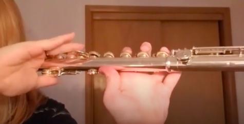 Hailee Troglin on the flute