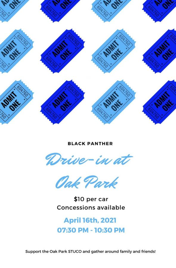 The fourth date may just work for the new drive in movie event. Mark your calendar for Friday, April 30.