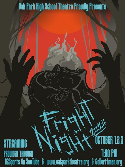 Promotional poster for OPHS theater department's Fright Night 2020